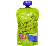 Ella's Kitchen Organic Baby Food - Pear Apple & Baby Rice, 3.5 Oz (6 Pouches)
