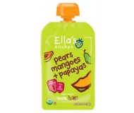 Ella's Kitchen Organic Baby Food - Pear, Mango, Papaya, 3.5 Oz (6 Pouches)