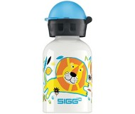 Sigg Water Bottle, White Jungle Family, .3 Liters
