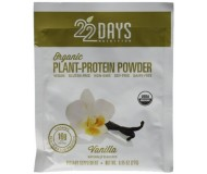 22 Days Nutrition Plant Protein Powder,  Vanilla, .85 oz (Case of 12)