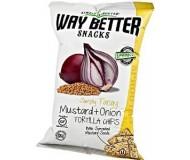 Way Better Snacks, Super Kosher Mustard & Onion Tortilla Chips