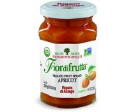 Fiordifrutta Organic Jam Spread, Apricot, 8.82 OZ JAR (Case of  6)