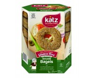 Katz Gluten Free Sesame Bagels (Case of 6)
