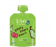 Ella's Kitchen Organic Baby Food - Pears, Pears, Pears, 2.5 Oz (6 Pouches)