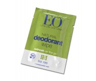 EO Natural Deodorant Wipes Singles, Tea Tree [24 singles per pack]