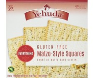 Yehudah Gluten Free Matzo Squares, Everything (Case of 12)