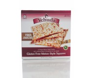 Yehudah Gluten Free Matzo Squares, High Fiber, 10.5 Oz (Case of 6)