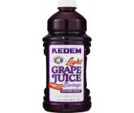Kedem 100% Pure Kosher Light Concord Grape Juice, 64 oz [Case of 8]