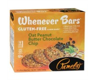 Pamela's Gluten Free Whenever Bars, Oat Peanut Butter Chocolate Chip, 5 Bars per box [Case of 6]