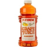 Kedem 100% Pure Kosher Peach Flavored Grape Juice, 64 oz [Case of 8]