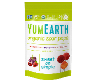 Yummy Earth Organic Lollipop Pouch, Super Sour Pops