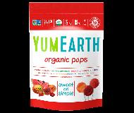 Yummy Earth, Organic Pomegranate Pucker Pops, Family Size, 12.3 Oz