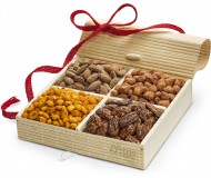 Simply Crave Nut Gift Baskets Holiday, Holiday Gift Tray, Gourmet Food Gift, Nuts Tray Gift Assortment, Holiday (Large)