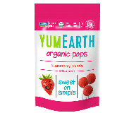 Yummy Earth Organic Lollipop Pouch, Strawberry Pops