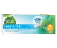 Seventh Generation Free & Clear Organic Cotton Tampons, Super Plus [Case of 12]