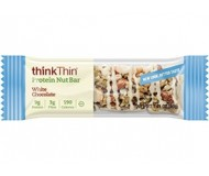 Think Thin Protein Nut Bars, White Chocolate, 1.41 oz [10 Pack]