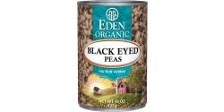Eden Gluten Free Organic Black Eyed Peas, 15 Oz. Can (12 Pack)