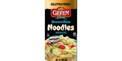 Gefen Fusion Pasta, Gluten Free Brown Rice Instant Noodles, Medium, 11.6 Oz (12 Pack)