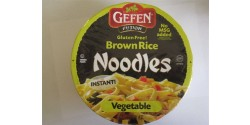 Gefen Gluten Free Brown Rice Noodle Bowl, Vegetable Flavor, 2.25 Oz