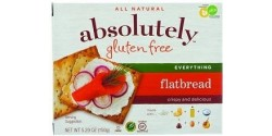 Absolutely Gluten Free Flatbreads, Everything (Case of 12)