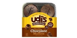 Udi's Double Chocolate Gluten Free  Muffins