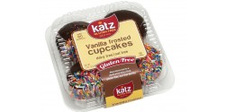 Katz Gluten Free Vanilla Frosted Cupcakes with Sprinkles