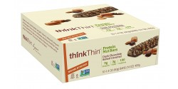 Think Thin Protein Nut Gluten Free Bars, Dark Chocolate Salted Caramel, 1.41 oz [10 Pack]
