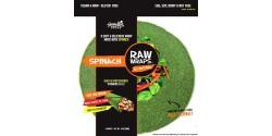 Raw Gluten Free Wraps, Spinach [Case of 6]