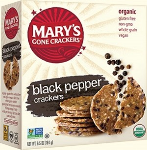 Mary's Gone Crackers, Gluten Free Crackers, Black Pepper