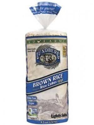 Lundberg EcoFarmed Brown Rice Cakes, Lightly Salted