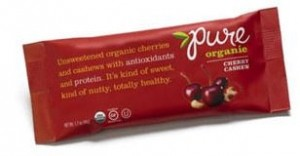 Pure Organic Cherry Chashew Fruit & Nut Bar, 1.7 Oz. Bars ( Pack of 12)