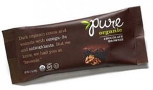 Pure Organic Chocolate Brownie Fruit & Nut Bar, 1.7 Oz. Bars ( Pack of 12)