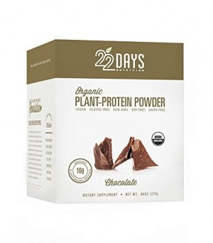 22 Days Nutrition Plant Protein Powder, Chocolate, .85 oz (Case of 12)