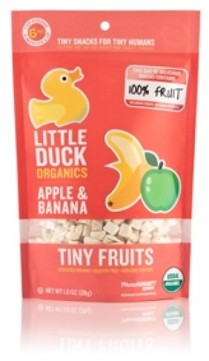 Little Duck Organics Tiny Fruit, Apple & Banana (Pack of 6)