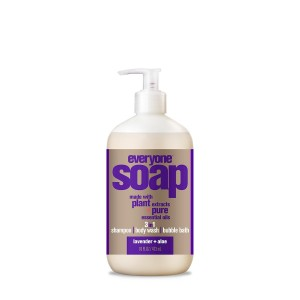 Everyone 3-in-1 Soap, Lavender & Aloe, 16 oz Bottle