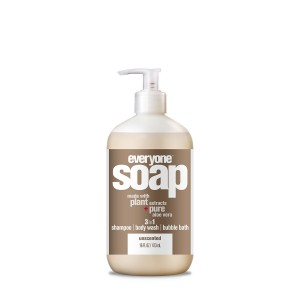 Everyone 3-in-1 Soap, Unscented, 16 oz Bottle