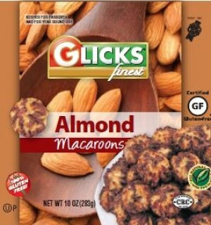 Glick's Gluten Free Almond Macaroons (Case of 12)