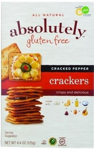Absolutely Gluten Free Crackers, Cracked Pepper (Case of 12)