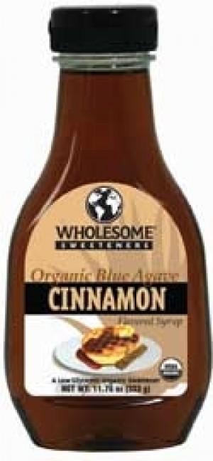 Wholesome Sweeteners Organic Raw Blue Agave Nectar, Cinnamon