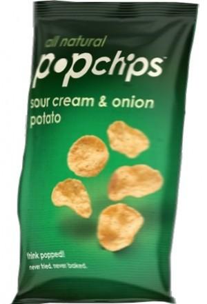 Popchips, Sour Cream & Onion, 0.80 Oz Bag