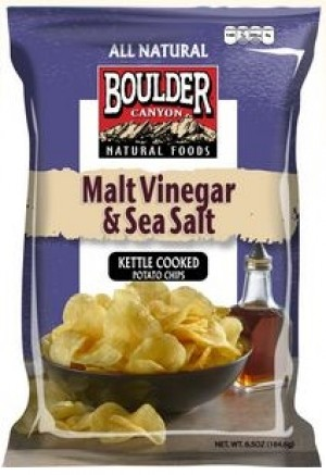 Boulder Canyon Malt Vinegar & Sea Salt Chips, (12 Pack)