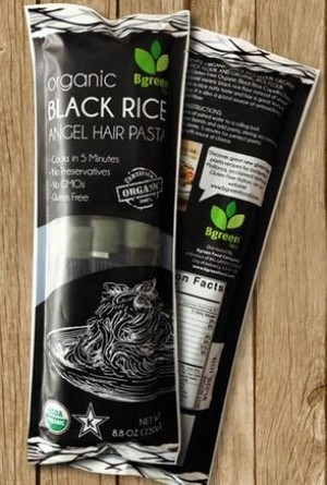 Organic Black Rice Angel Hair Pasta, 8.8 Oz. (Case of 12)