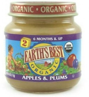 Earth's Best Baby Food Jar, Strained Apples and Plums