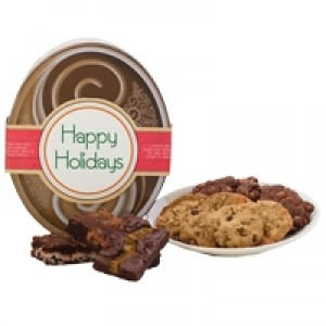 Happy Holidays! Chocolate Oval Gluten Free Gift Tin