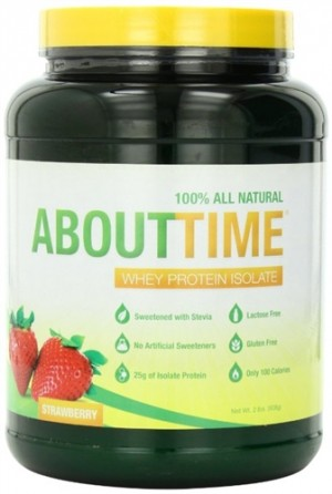 About Time Whey Protein Isolate, Strawberry, 2 lbs