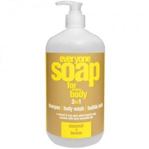EO® EveryOne 3-in-1 Liquid Soap, Coconut and Lemon - 32 fl oz