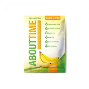 About Time Whey Protein Isolate, Banana, 1 Oz. (Case of 12)