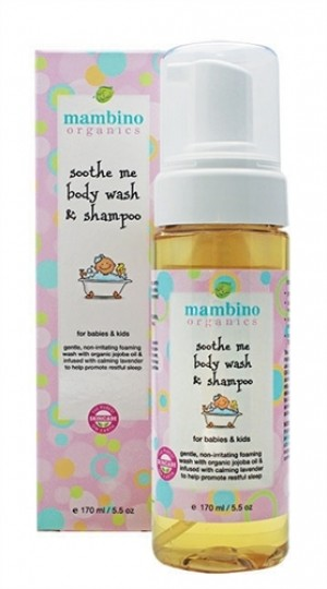 Mambino Organics Soothe Me Baby Kids Wash and Shampoo, 5.5 fl oz
