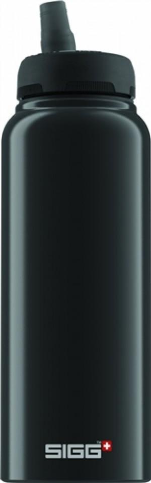 Sigg Water Bottle, Nat Black, 1 Liter