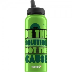 Sigg Water Bottle, Cuipo Be The Solution Not The Cause, 1 Liter